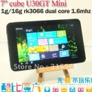 "Cube Mini U30GT - планшетный компьютер, Android 4.0.4, 7"" IPS, Rockchip RK3066 (2x1.6GHz), 1GB RAM, 16GB ROM, Wi-Fi, HDMI, 2MP фронтальная камера, 2MP задняя камера"