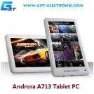 "Androra A713 - планшетный компьютер, Android 4.0.3, TFT LCD 7"", 1.2GHz, 512MB RAM, 4GB ROM, Wi-Fi, 0.3MP фронтальная камера"