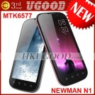 "Newman N1 - смартфон, Android 4.0.3, MTK6577 (1.2GHz), 4.3"" IPS, 1GB RAM, 4GB ROM, 3G, Wi-Fi, Bluetooth, GPS, 8MP задняя камера, 0.3MP фронтальная камера"