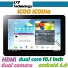 "Icoo Icou 10 - планшетный компьютер, Android 4.0.4, HD 10.1"" IPS, Amlogic 8726-MX (2x1.5GHz), 1GB RAM, 16GB ROM, Wi-Fi, HDMI, 0.3MP фронтальная камера, 2MP задняя камера"