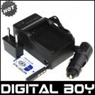 NP-FD1 - 3 аккумулятора + зарядное устройство + автомобильное зарядное устройство + штекер дляSony T2 T90 T70 T200 T300