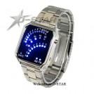 Светодиодные мужские часы, синие