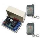 Беспроводной пульт дистанционного управления для двери – 2 канала, 433МГц, AC 110~240В, модуль моментального запирания, 2 приемника