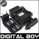 CGA-S001- 3 аккумулятора + зарядное устройство + автомобильное зарядное устройство для Panasonic Lumix DMC-F1 DMC-FX1