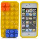 Жёлтый силиконовый чехол для iPhone 5