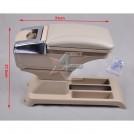 Подлокотник со встроенным отделением, кожа, пластик, для VW POLO 2002-2008, Бежевый