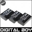NP-FV50 - 3 аккумулятора для Sony HDR-XR550E XR350E XR150E