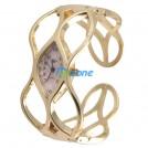 Модные часы, золотистый браслет, женские, кварц