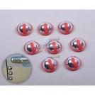 Круглые светоотражающие протекторы на кузов автомобиля, 8шт