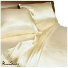 Шелковый комплект постельного белья, цвета шампанского