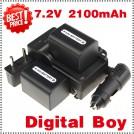 NP-FH70 - 2 аккумулятора + зарядное устройство + автомобильное зарядное устройство + штекер для Sony DVD505 HC96 NP-FH30 NP-FH40