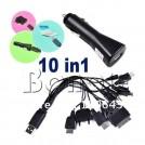 Универсальный USB кабель для зарядки 10 в 1 + Автомобильное зарядное устройство