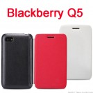 Кожаный чехол NILLKIN для Blackberry Q5 + защитная пленка + салфетка