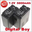 VW-VBG6 - 2 аккумулятора Li-ion 5800 мАч для Panasonic HMC71 HMC73 HMC150