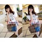 Модные женские сумки-почтальонки с рисунком флага США в стиле ретро 6928