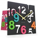 Цветные настенные часы