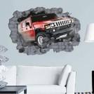 Стикер в виде большого автомобиля 3D