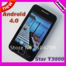 "Star T3000 (A5830 Upgrade edition) - смартфон, Android 4.0.4, MTK6515 (1GHz), 3.5"" TFT LCD, 256MB RAM, 512MB ROM, Wi-Fi, Bluetooth, TV, FM, 2MP задняя камера"