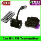 Автомобильный FM-трансмиттер - MP3/MP4 плеер, 1.5 дюймовый ЖК-дисплей, Bluetooth, поддержка карт SD/MMC, крепление к рулю