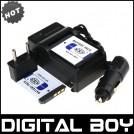 NP-FD1 - аккумулятор + зарядное устройство + автомобильное зарядное устройство для Sony T2 T90 T70 T200 T300
