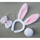 Комплект карнавального костюма зайчика(10шт) -  уши кролика + галстук-бабочка + хвост