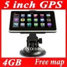 """Автомобильный GPS навигатор, 5"""", MTK, CE6.0, FM, 4GB"""