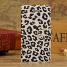 Кожаный чехол с леопардовым узором для iPhone 5 с отделением для пластиковых карт и подставкой, 3 цвета на выбор