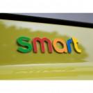 """Разноцветный стикер """"SMART"""" для автомобиля"""