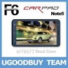 "CarPad Note 5 F6 - смартфон/планшетный компьютер/навигатор, Android 4.0.3, MTK6577 (1.2GHz), 6"" TFT LCD, 512MB RAM, 4GB ROM, 3G, Wi-Fi, Bluetooth, GPS, FM, 8MP задняя камера, 2MP фронтальная камера"