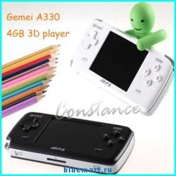 Gemei A330 - Портативная игровая консоль, 4GB, 3D LCD