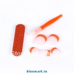 Набор накладных ногтей, французский маникюр