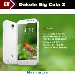 Dakele 2 BigCola2 - Смартфон, Android 4.2, MTK6589 1.2GHz, Dual SIM, 5.3