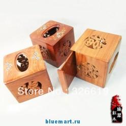 Деревянная коробка для бумажных салфеток