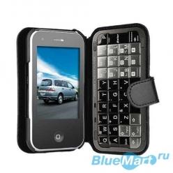 S6 - мобильный телефон, сенсорный экран 3,2 дюйма, TV, WI-FI + кожаный чехол с QWERTY-клавиатурой