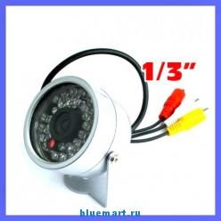 Цветная проводная камера видеонаблюдения с ИК подсветкой