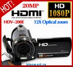 LZ HDV-200E - цифровая камера, 20MP, HD 1080P, поворотный сенсорный 3.0