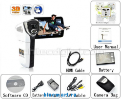 FX1W - цифровая 3D-камера, HD 720P, 8MP, 3.2