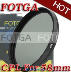 Циркулярно-поляризационный фильтр Fotga 58mm для камер Canon/Nikon/Sony/Olympus