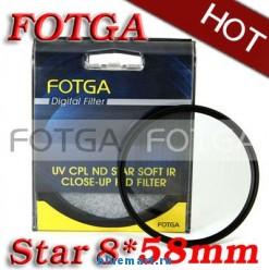 Звездный восьми-лучевой фильтр Fotga Star 58mm для Canon/Nikon/Sony/Olympus