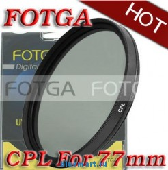 Циркулярно-поляризационный фильтр Fotga 77mm для камер Canon/Nikon/Sony/Olympus