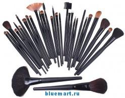 Набор кистей (32шт) для макияжа в кожаном чехле