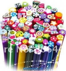Тросточки из полимерной глины для ногтей ( фрукты, цветы) 100 штук