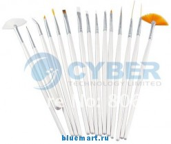 Набор кистей (15 штук) для маникюра/педикюра