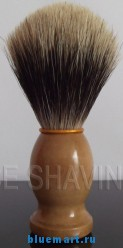 Помазок для бритья с деревянной ручкой