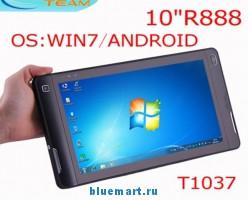 ET-T1037 - планшетный компьютер, Windows 7/Android 2.2, 10.1