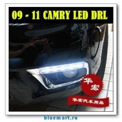 Светодиодные противотуманные фары для TOYOTA Camry, LED, DRL, 2шт