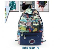 Рюкзак женский с оригинальным 3D рисунком, 4 цвета на выбор