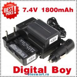 NP-FM500H - 2 аккумулятора + зарядное устройство + автомобильное зарядное устройство + штекер для Sony Sony A300 A350 A900 A700