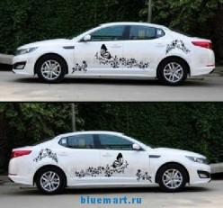 Набор наклеек для кузова автомобиля, с изображением бабочек, винил