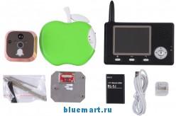 Цифровой дверной глазок – беспроводной, 2.4ГГц, 3.5 ЖК-дисплей, ИК камера